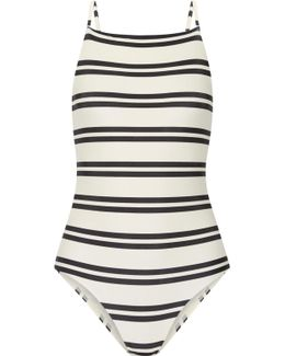 Classic Drop Cutout Striped Swimsuit