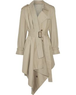 Asymmetric Cotton-gabardine Trench Coat