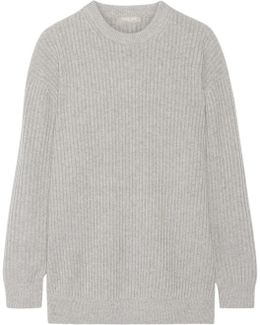 Oversized Ribbed Cashmere Sweater
