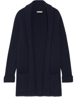 Oversized Ribbed Cashmere Cardigan