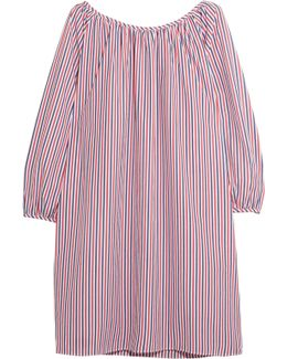 Lily Striped Cotton-piqué Nightdress