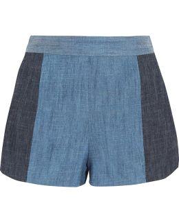 Madison Two-tone Chambray Shorts