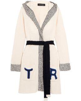 Loon Beach Appliquéd Cotton-blend Terry Robe
