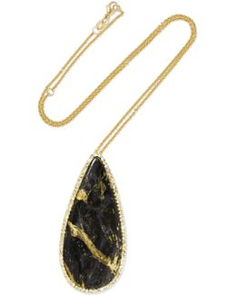 18-karat Gold, Apache Gold And Diamond Necklace