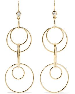 Glamazon Jet Set 18-karat Gold Diamond Earrings