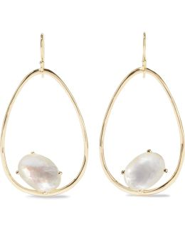 Rock Candy Wire 18-karat Gold, Quartz And Mother-of-pearl Earrings