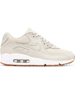 Air Max 90 Premium Snake-effect Leather And Mesh Sneakers
