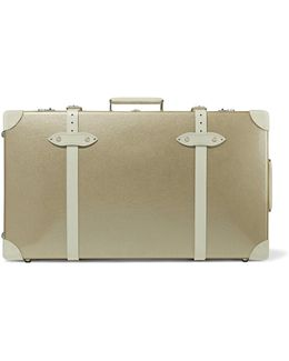 "Champagne 30"" Leather-trimmed Fiberboard Travel Trolley"