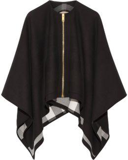 Asymmetric Merino Wool Poncho