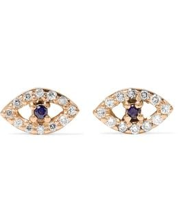 18-karat Rose Gold, Diamond And Sapphire Earrings