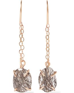 14-karat Gold Tourmalated Quartz Earrings