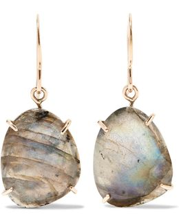 14-karat Gold And Sterling Silver Labradorite Earrings