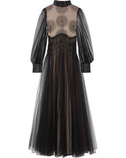 Appliquéd Tulle Gown