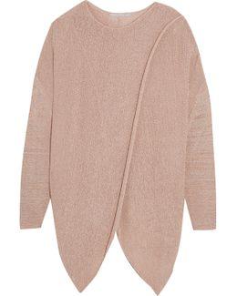 Draped Stretch-knit Sweater