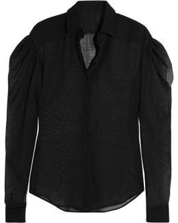 Wool-blend Voile Shirt