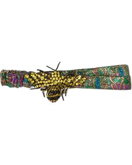 Embellished Metallic Jacquard Headband