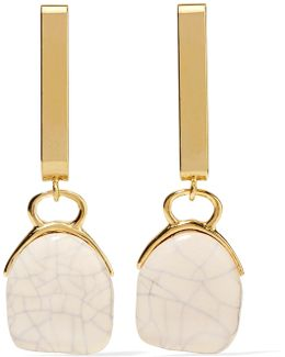 Gold-tone Ceramic Earrings