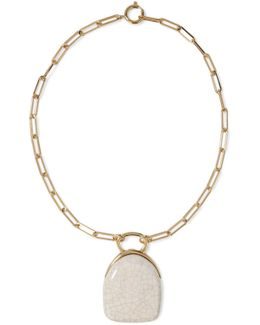 Gold-tone Ceramic Necklace