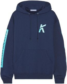 Wave Printed Cotton-blend Jersey Hooded Top