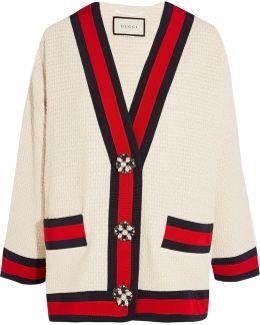 Embellished Grosgrain-trimmed Bouclé-tweed Jacket
