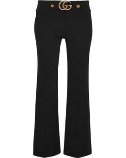 Cropped Stretch-jersey Flared Pants