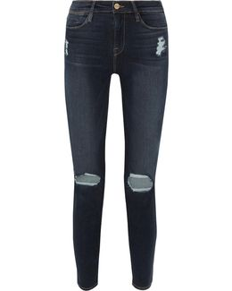 Le High Distressed Skinny Jeans