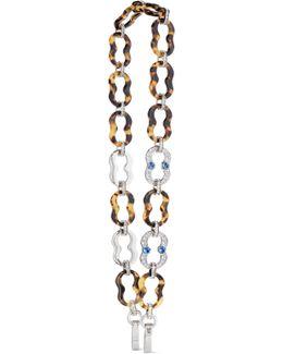 Silver-tone, Swarovski Crystal And Resin Bag Strap