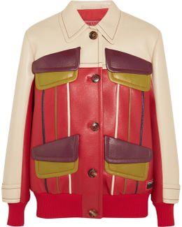 Paneled Leather Jacket