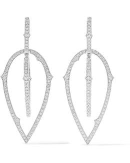 Thorn 18-karat White Gold Diamond Earrings