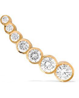 Petite Croissant De Lune 18-karat Gold Diamond Earring