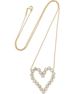Open Heart 18-karat Gold Diamond Necklace