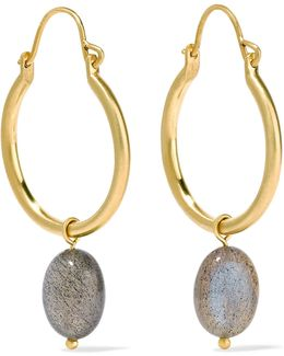 18-karat Gold Labradorite Earrings