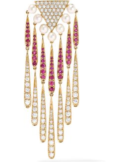 18-karat Gold Multi-stone Earring
