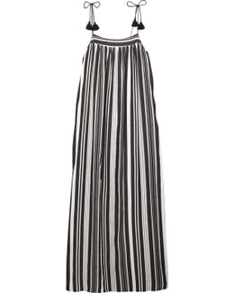 Nora Striped Cotton-blend Maxi Dress