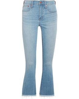 Cali Cropped High-rise Bootcut Jeans