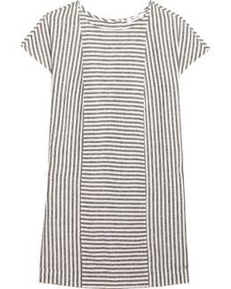 Daphne Striped Linen-blend Mini Dress