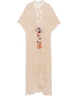 Mirage Guipure Cotton-lace Kaftan