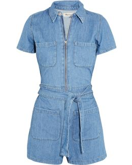 Cotton And Linen-blend Playsuit