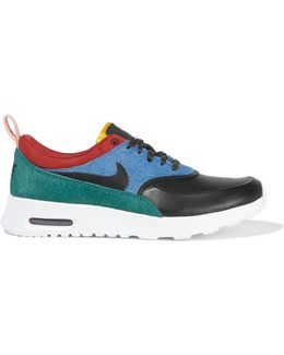Air Max Thea Leather And Calf Hair Sneakers