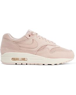 Air Max 1 Pinnacle Perforated Faux Nubuck Sneakers