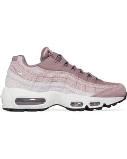 Air Max 95 Embossed Suede And Canvas Sneakers