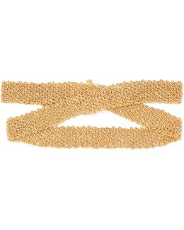 Woven 18-karat Yellow And White Gold Bracelet