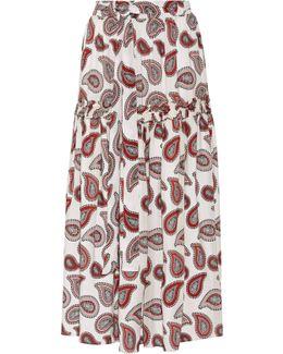 Stevie Paisley-print Silk Crepe De Chine Maxi Skirt
