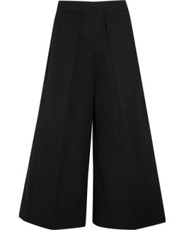 Nixie Pleated Cropped Wide-leg Pants