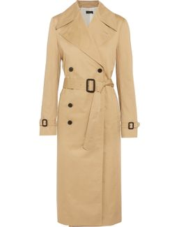Townie Double-breasted Cotton Trench Coat