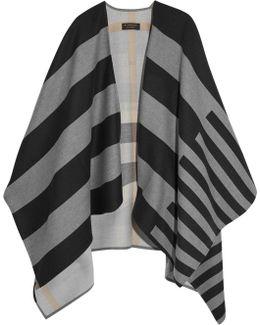 Striped Merino Wool Cape
