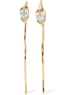 Sprout 18-karat Gold Diamond Earrings
