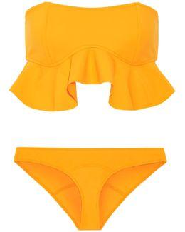 Natalie Flounce Ruffled Bandeau Bikini