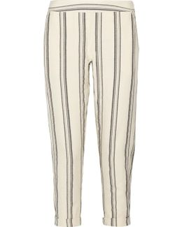 Cassie Striped Cotton Tapered Pants