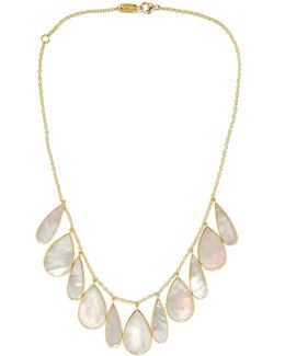 Rock Candy 18-karat Gold Mother-of-pearl Necklace